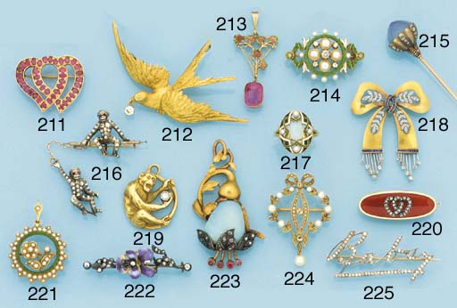 A 19th century French gold, st