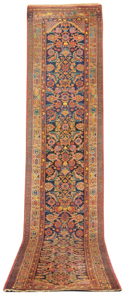 An antique Bijar runner, North