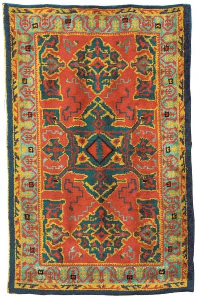 An European rug of Star Ushak