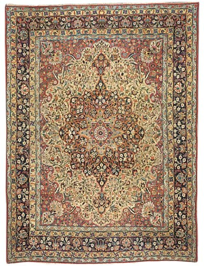 An antique Kirman carpet, Sout