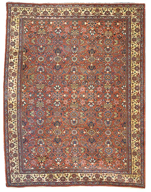An antique Mahal carpet, West Persia