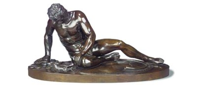 A BRONZE MODEL OF THE DYING GA