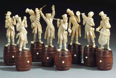 A group of eight Austrian ivor