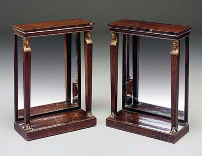 A PAIR OF ROSEWOOD AND PARCEL