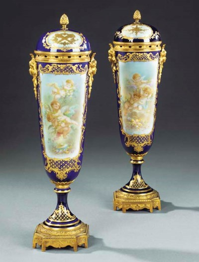 A PAIR OF FRENCH SEVRES STYLE