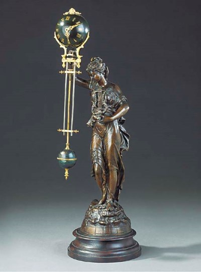 A French spelter figural 'myst