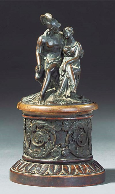 A BRONZE GROUP OF VENUS AND MA