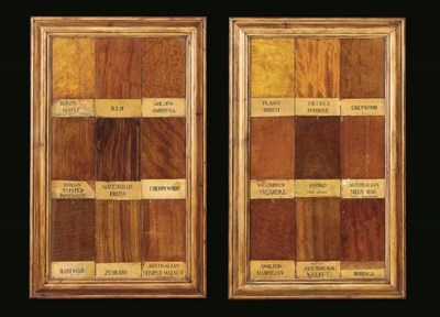 A GROUP OF FOUR FRAMED PANELS