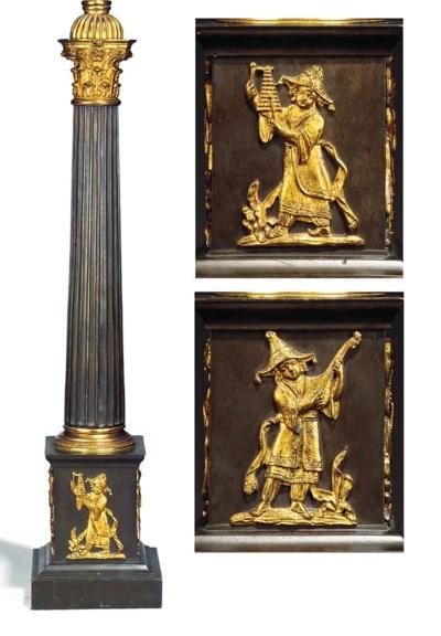 A Regency bronze and ormolu ta