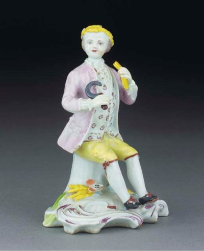 A Longton Hall figure of Summe
