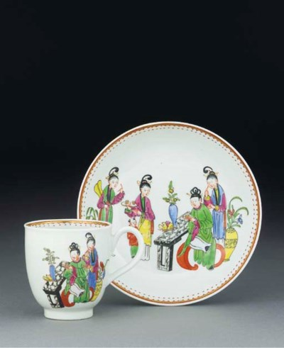 A Worcester chinoiserie coffee