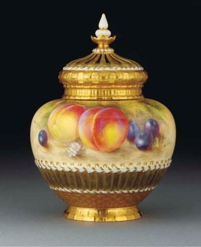 A Royal Worcester baluster pot