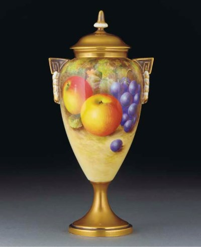 A Royal Worcester oviform vase