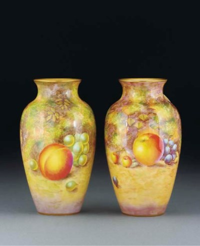 A pair of Royal Worcester ovif