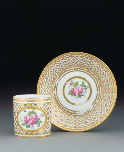 A Sevres (hard-paste) coffee-c
