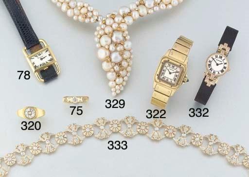 An 18ct. gold diamond set band