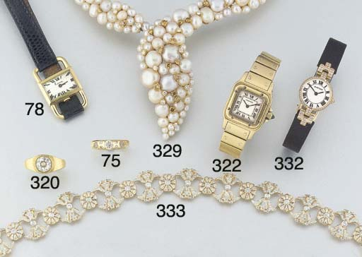 A lady's 18ct. gold Cartier Sa