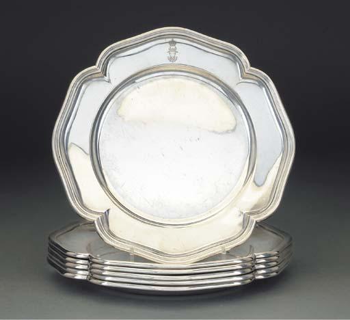 A Set of Six German Silver Din