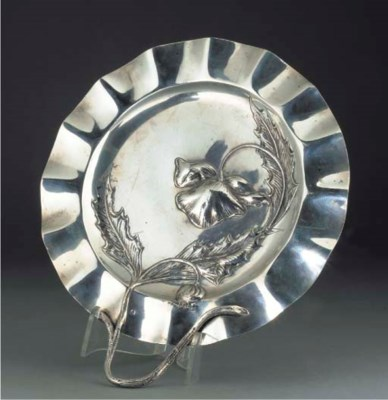 An Austrian silver dish