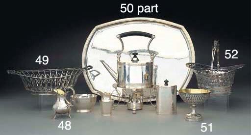 A Swiss Silver Basket