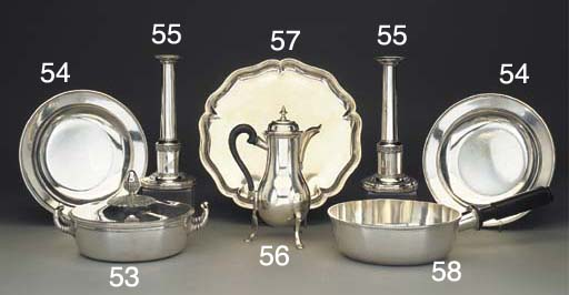 A Pair of Swiss Silver Soup Pl
