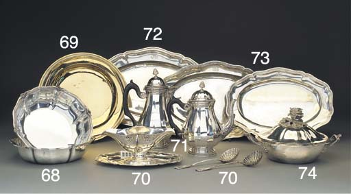 A French Silver Sauce Boat-on-