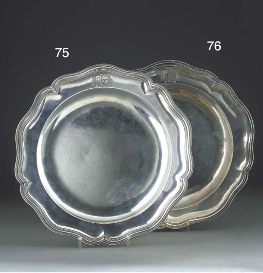 A Louis XV Silver Dinner Plate