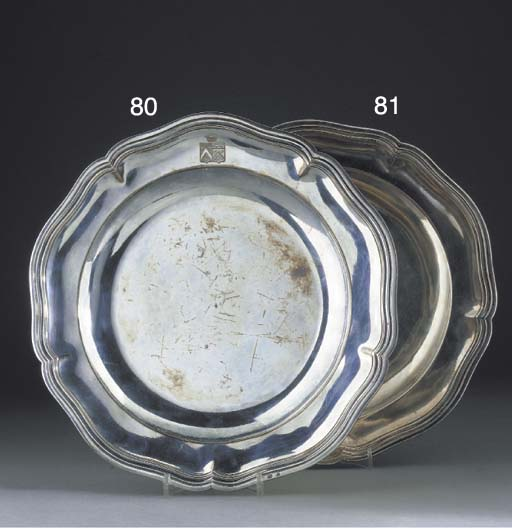 A French Silver Dinner Plate