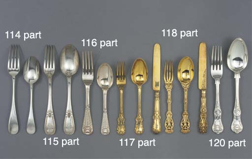 A Part Canteen of French Silve