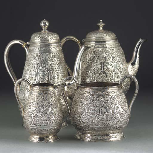 A Victorian Four-piece Silver