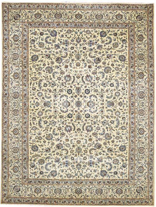 A fine Isfahani Kashan carpet,