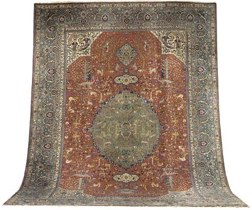 A fine Benlian Tabriz carpet,
