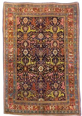 A fine antique Bijar rug, West