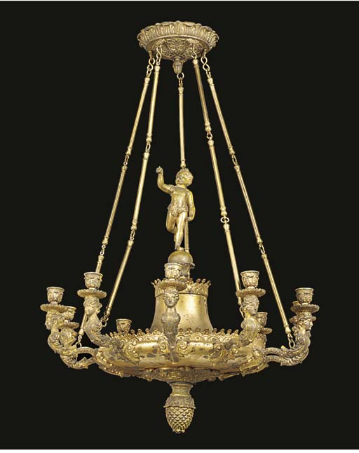 A FRENCH GILT BRONZE AND METAL