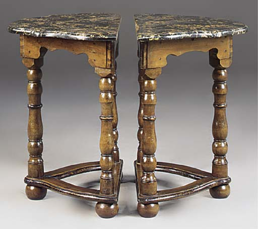 A PAIR OF ITALIAN WALNUT SIMUL