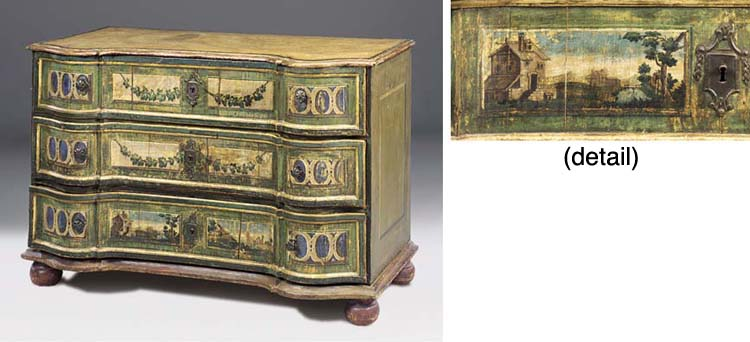 AN ITALIAN DECORATED CHEST