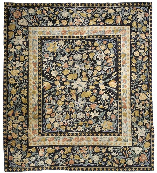 A HAND WOVEN CARPET OF SAVONNE