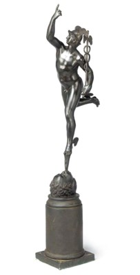 AN ELECTROTYPE BRONZE FIGURE O