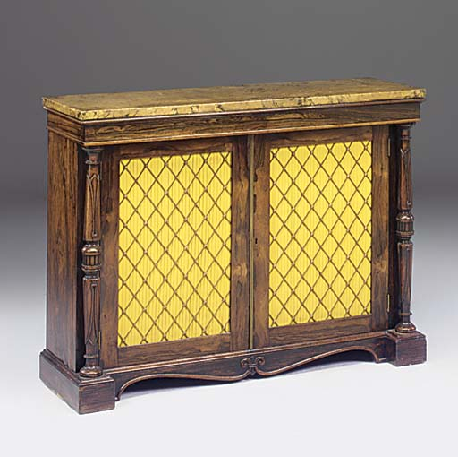 A WILLIAM IV ROSEWOOD SIDE CAB