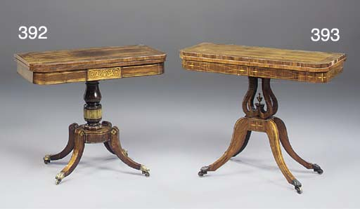A Regency kingwood card-table