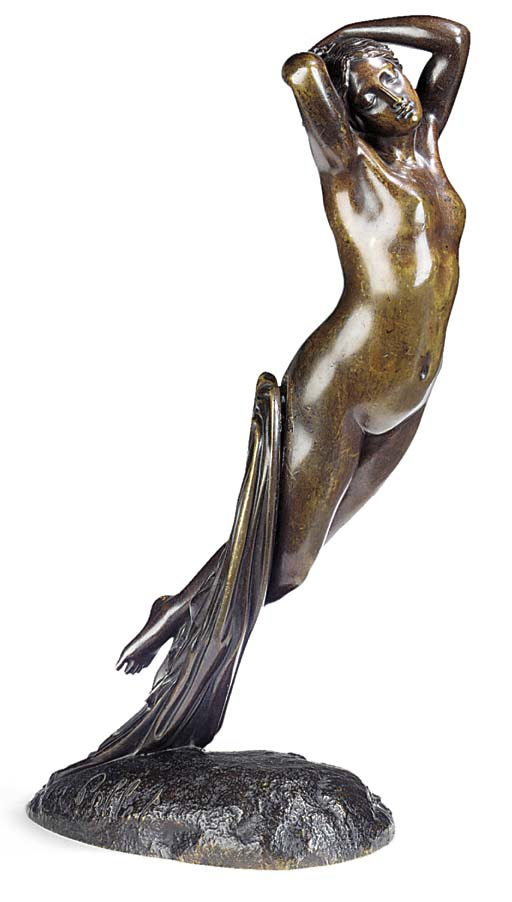 A FRENCH BRONZE FIGURE 'UNE HE