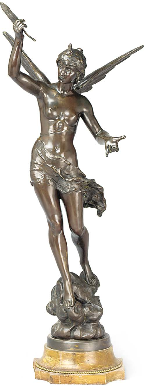 A SPANISH BRONZE ALLEGORICAL F