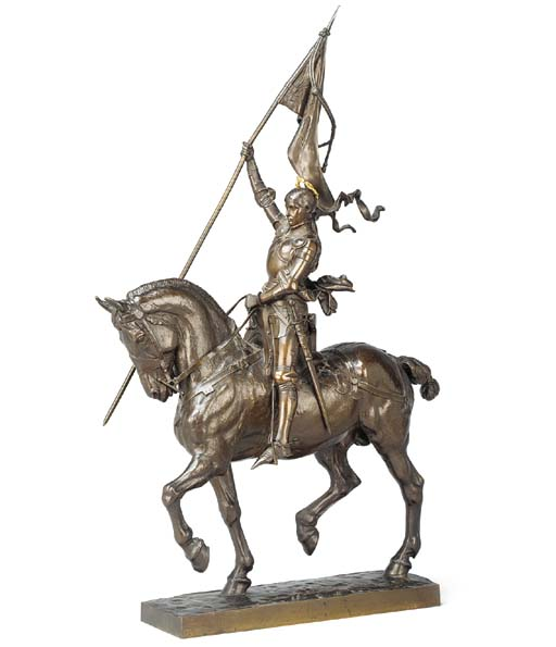 A FRENCH BRONZE EQUESTRIAN POR