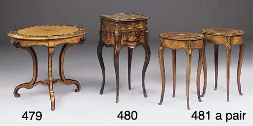 A PAIR OF FRENCH KINGWOOD GILT