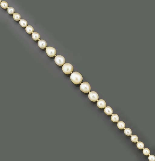 A pearl necklace,