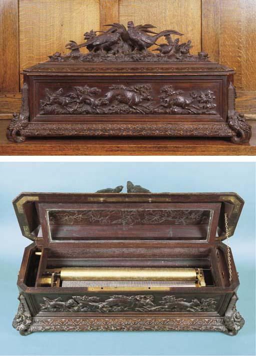 A fine mandolin musical box