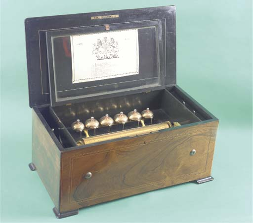 A bells-in-sight musical box