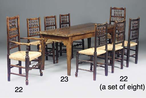 AN ENGLISH ASH FARMHOUSE TABLE