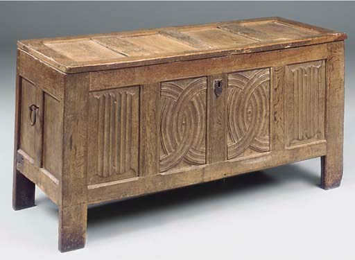 A FRENCH OAK CHEST