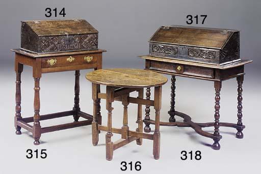 AN ENGLISH OAK SIDE TABLE